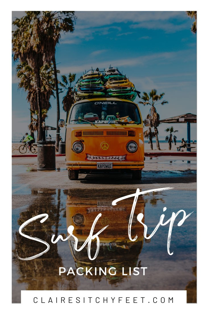 Surf Trip Packing List
