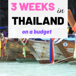 Are you planning a trip to Thailand? Then take a read of my 3 week Thailand Itinerary. This backpacking guide will help you make the most of your time backpacking Thailand. #backpackingthailand #thailand #thailandtravelguide #ThailandItinerary