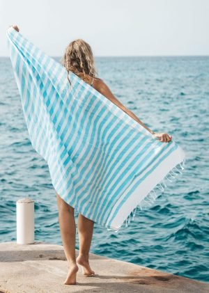 Batini Bay Turkish Beach Kikoy Towel