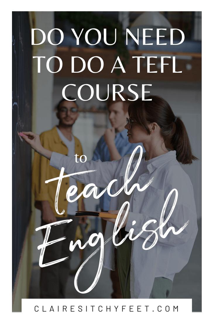 TEFL course to teach English