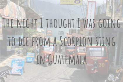Travel Stories | The night I thought I was going to die from a Scorpion sting in Guatemala
