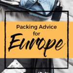 Packing advice for Europe