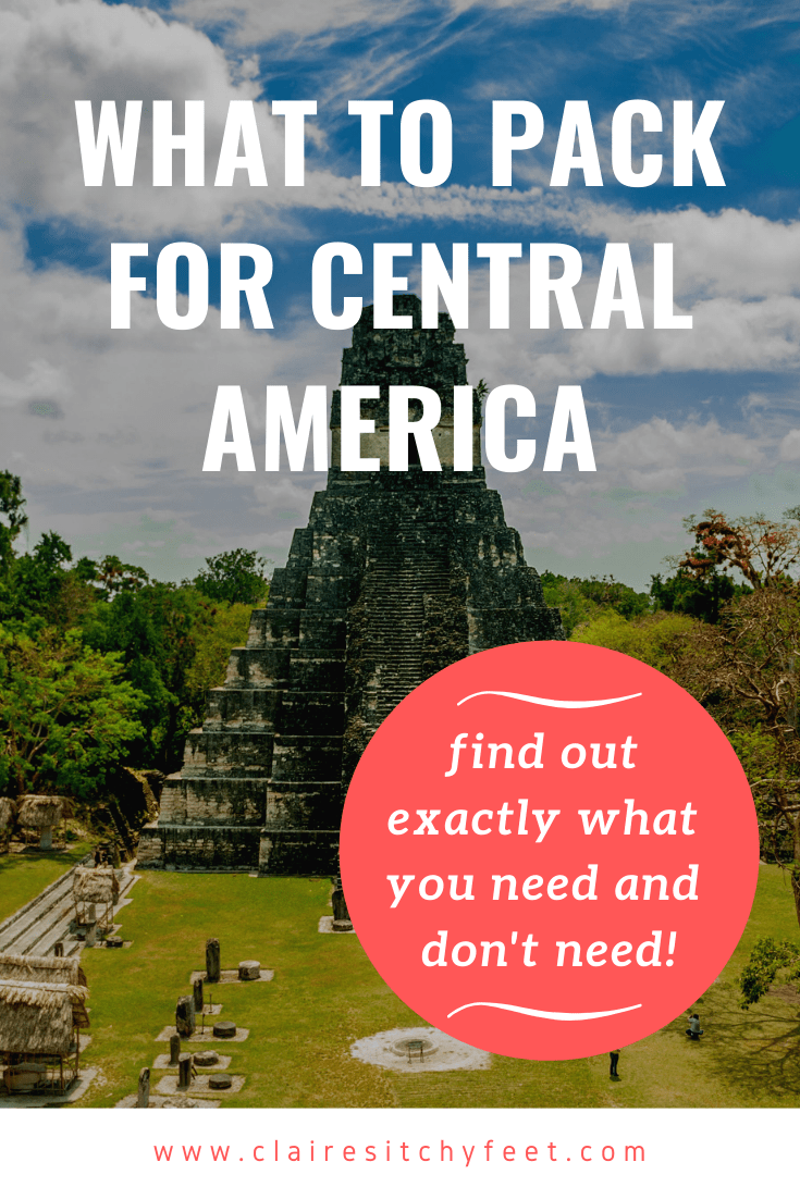 If you are planning a trip to Central America you are probably wondering what to pack for Central America? Here is my packing tips and advice. #packingguides #centralamericaguide #packingcentralamerica
