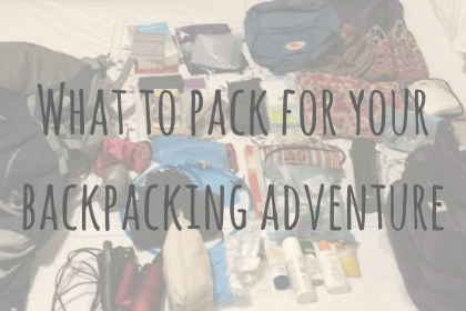 What to pack for your backpacking adventure