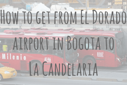 How to get from El Dorado airport in Bogota to La Candelaria