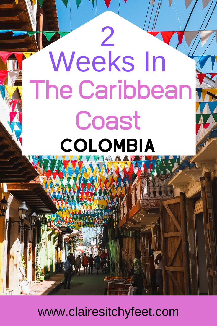 2 week itinerary for Colombia's Caribbean Coast