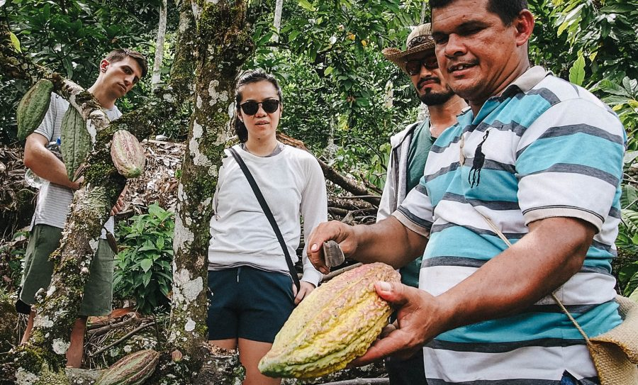 Then it's time to hike down the river for the best lunch I've eaten in Colombia. I've got a real thing about plastic so getting my lunch given to me wrapped in a banana leaf was a big win!