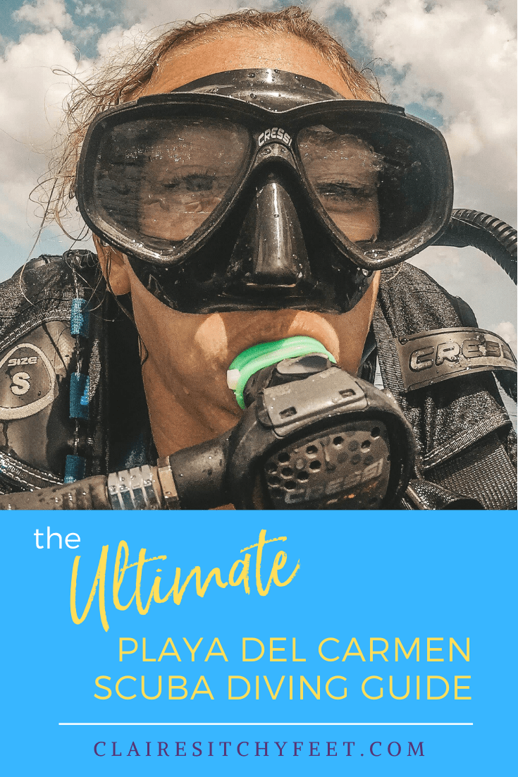 Scuba Diving in Playa Del Carmen was top of my Mexico to-do list. It's one of the top things you can do here. To help here is how to choose a good company. #playadelcarmen #sucbadiving #thingstodoinplayadelcarmen #scubadivingmexico #divinginplayadelcarmen