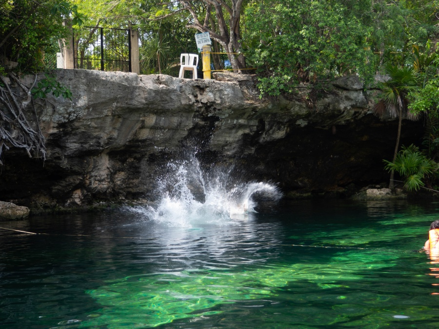 Adventures in Mexico _ Visiting Cenote Azul and Cenote Cristalino.