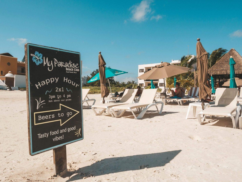 Beach club in Puerto Morelos. My Paradise Beach.