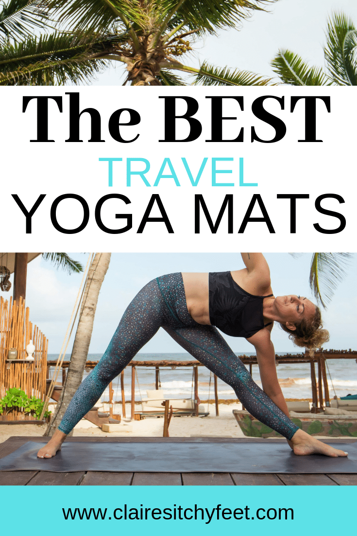 Looking for a yoga mat to take on your travels? As a dedicated yogi and yoga teacher I never want to skip a class while traveling. If you are like me then you are going to need to invest in a yoga mat for travel. In this yoga mat guide I not only help you choose the best travel yoga mat helping you know what to look for in a travel yoga mat, but I also review the best travel yoga mats out there #travelyogamat #yogaproducts #travelyoga #yogaproducts #travelyogaproducts #yogamatguide