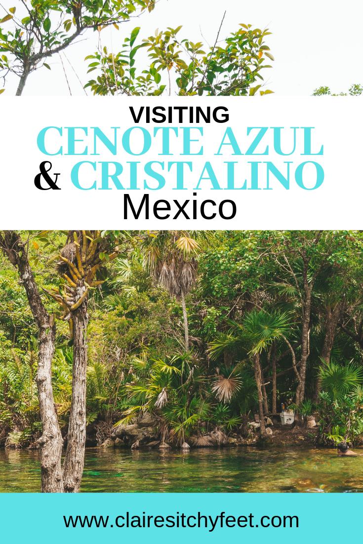 Visiting Cenote Azul and Cenote Cristalino