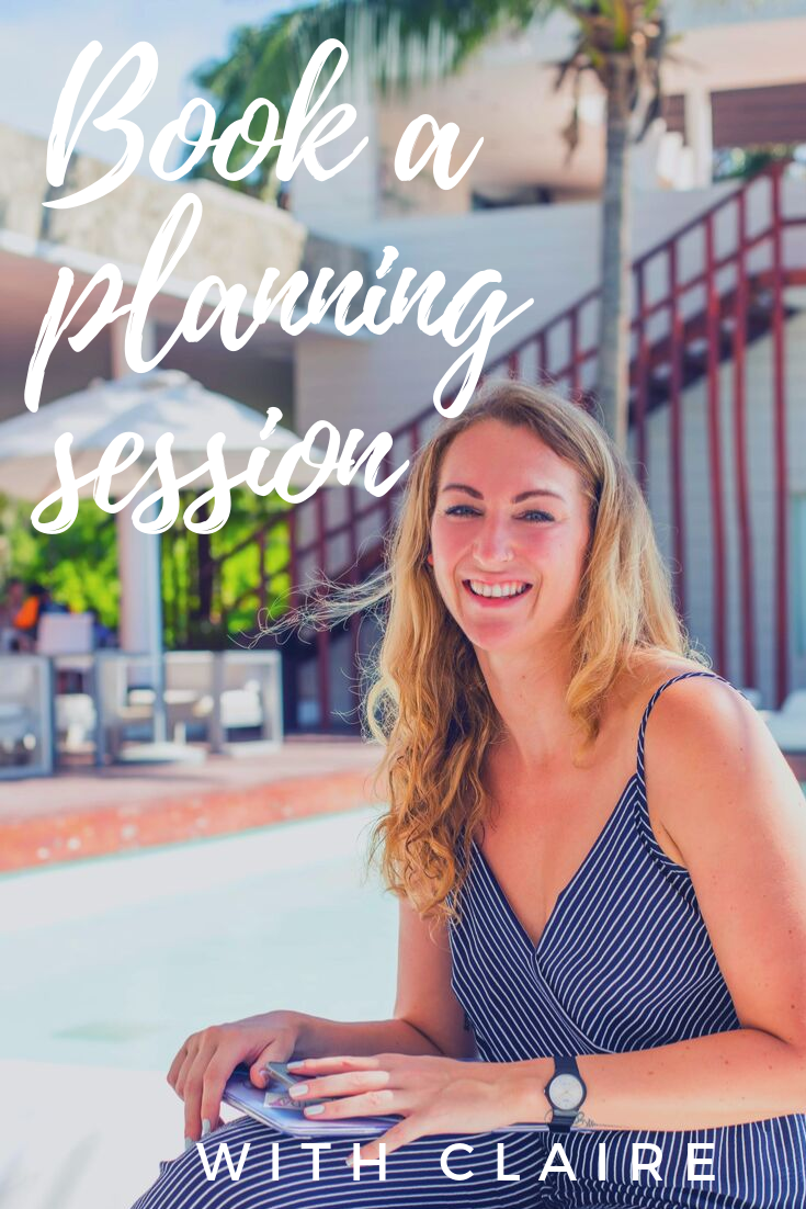 Book a travel planning session with Claire