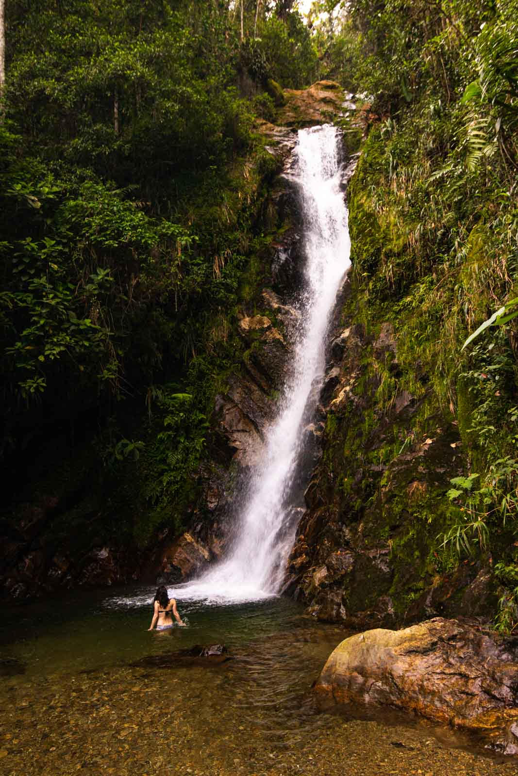 hiking in Colombia Medellin waterfall hike