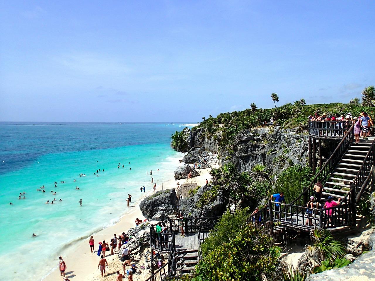public beaches in Tulum Mexico