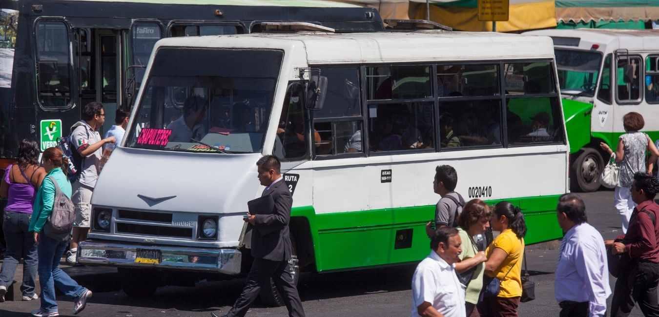 Public bus in Mexico City