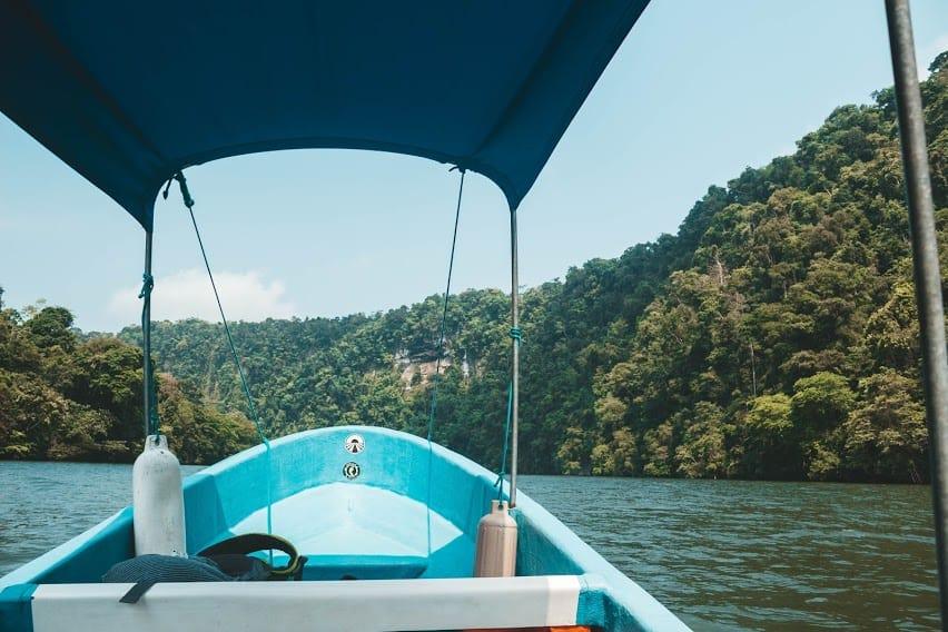 Boat ride in Rio Dulce Guatemala