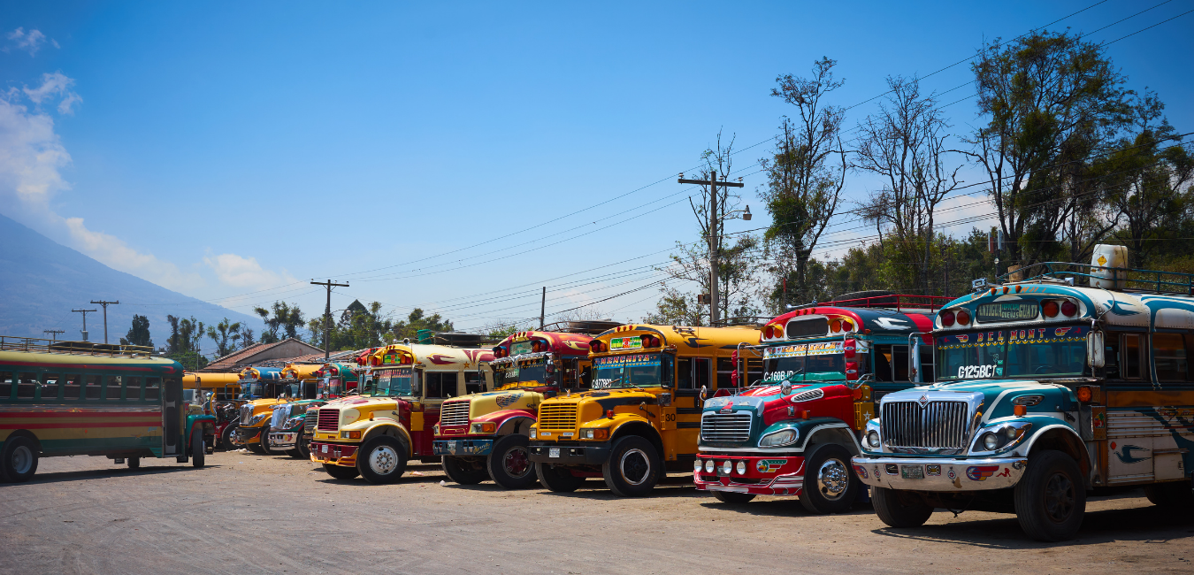 Public Transportation in Guatemala Best Known as Chicken Buses