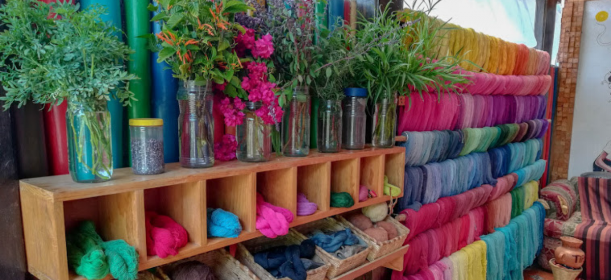 Yarn dyeing in Guatemala with natural dyes
