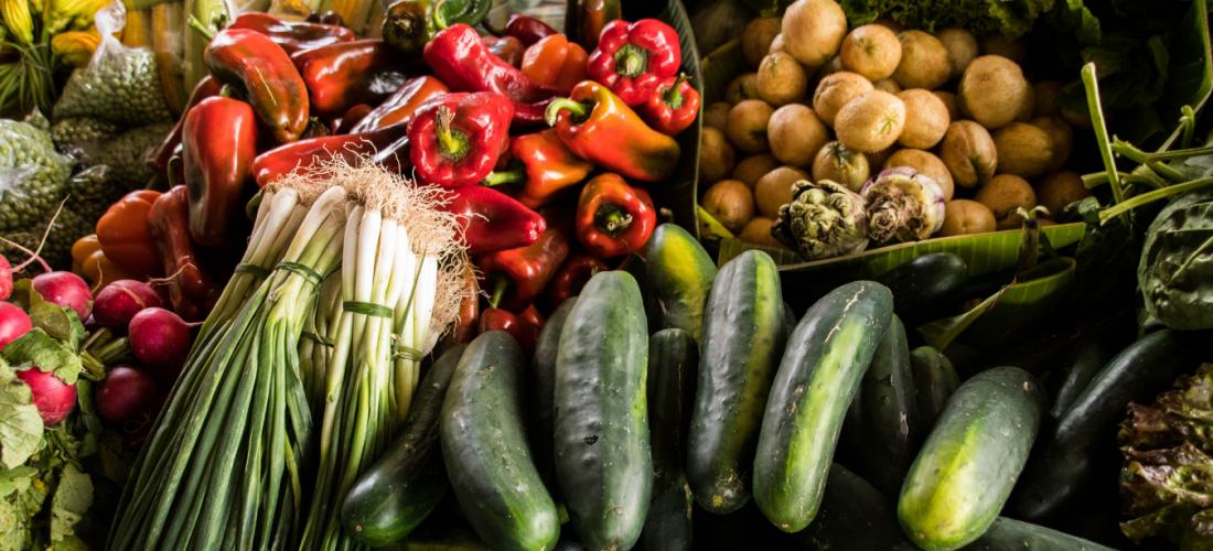 Guatemalan food- Antigua Market vegetables