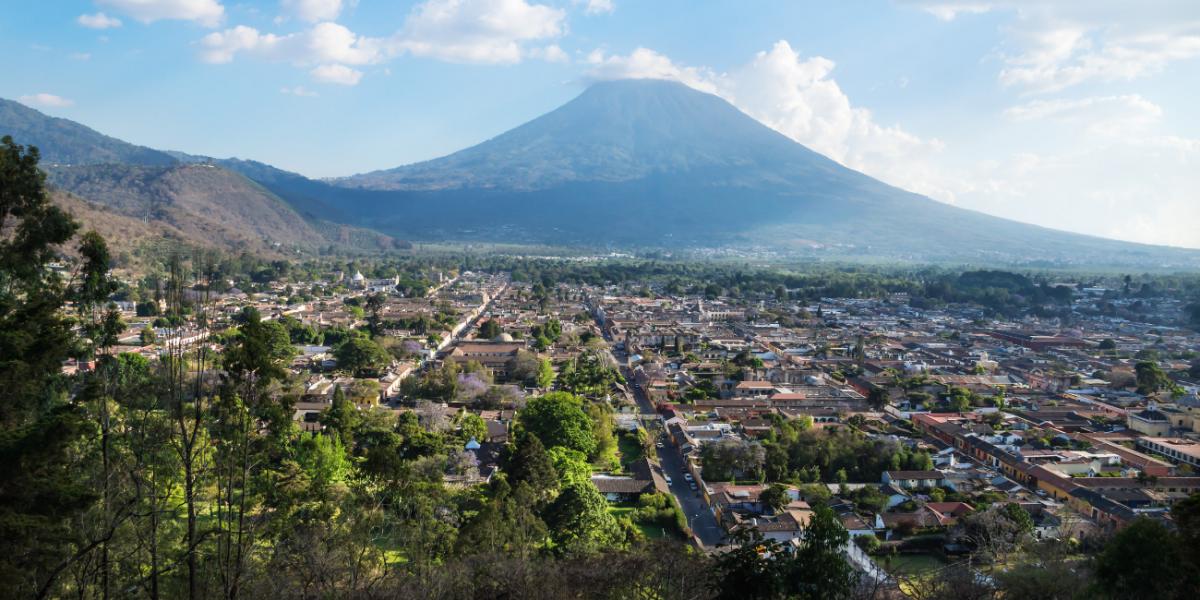 View from Cerro de La Cruz- Antigua Guatemala