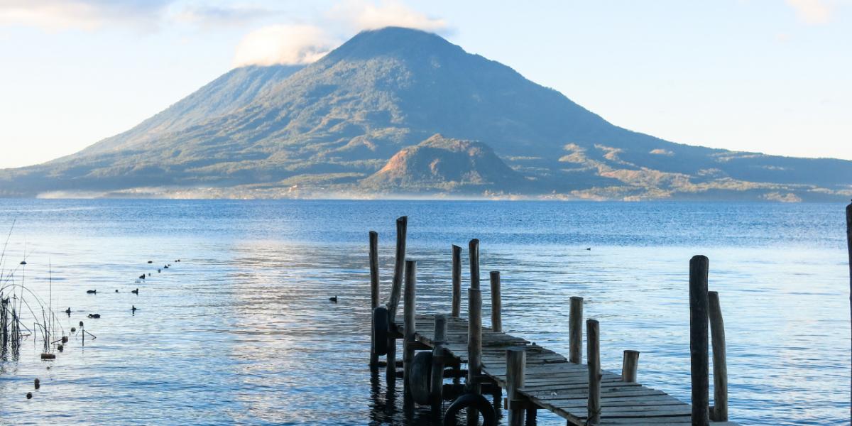 Lake Atitlan Landscape in the morning